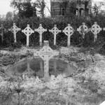 © IWM (Q 1543)Graves of officers, N.C.O.'s and men of the men of the 8th South Staffordshire Regiment, in the Menin Road Cemetery; near Ypres, October 1916.